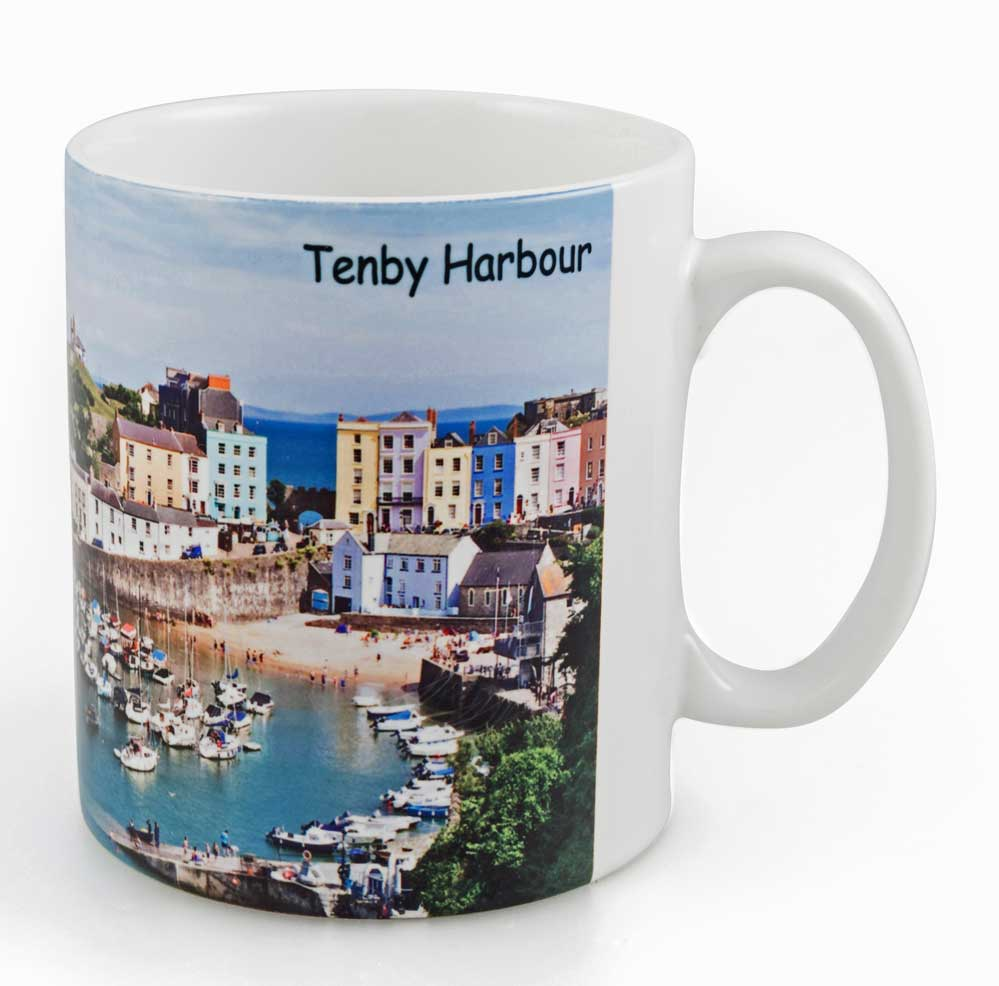 Ceramic Mug with a photo of Tenby Harbour