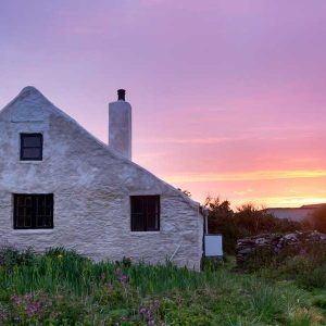Skokholm Farmhouse at Sunset