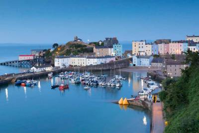 Tenby Harbour at Twilight