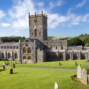 St Davids Cathedral in the Sunshine