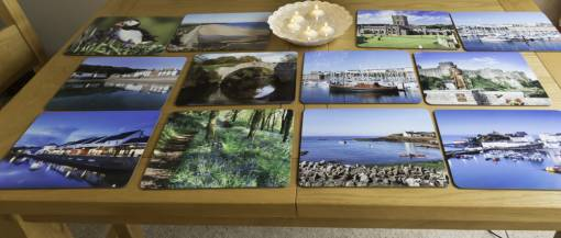 variety of table mats with your choice of images