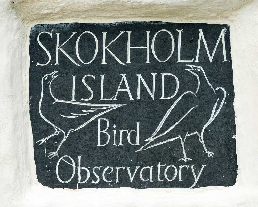 Sign on Farmhouse of Skokholm Island