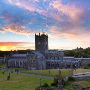 Sunset at St Davids Cathedral