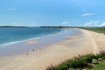 Tenby South Beach in the summer