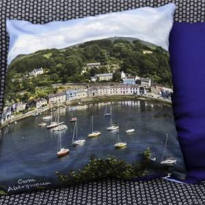 Large Lower Town Fishguard Cushion