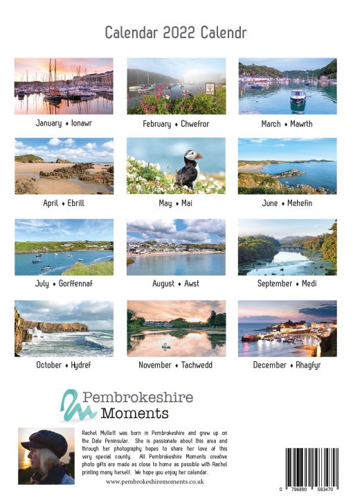 12 images of Pembrokeshire on 2022 photographic calendar