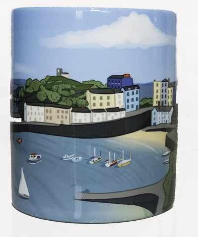 modern artwork on a standard mug