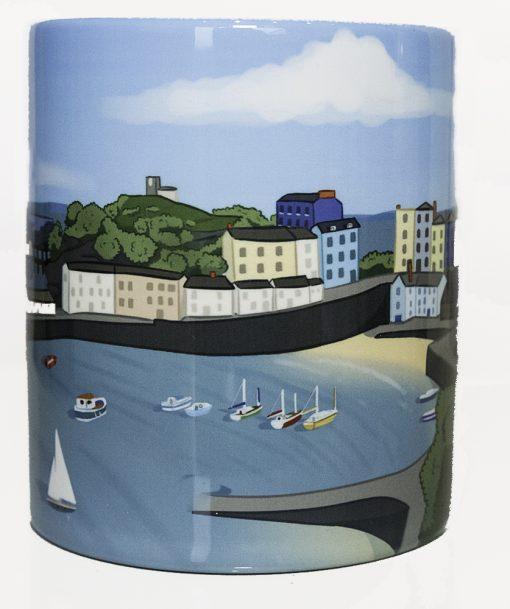 modern artwork on a standard mug