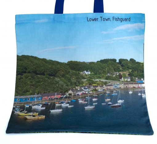 reverse of bag with another image of Cwm Abergwaun in the sunshine