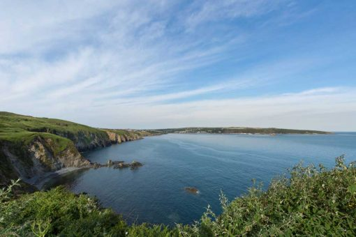 Looking back on Goodwick across the large bay of Fishguard