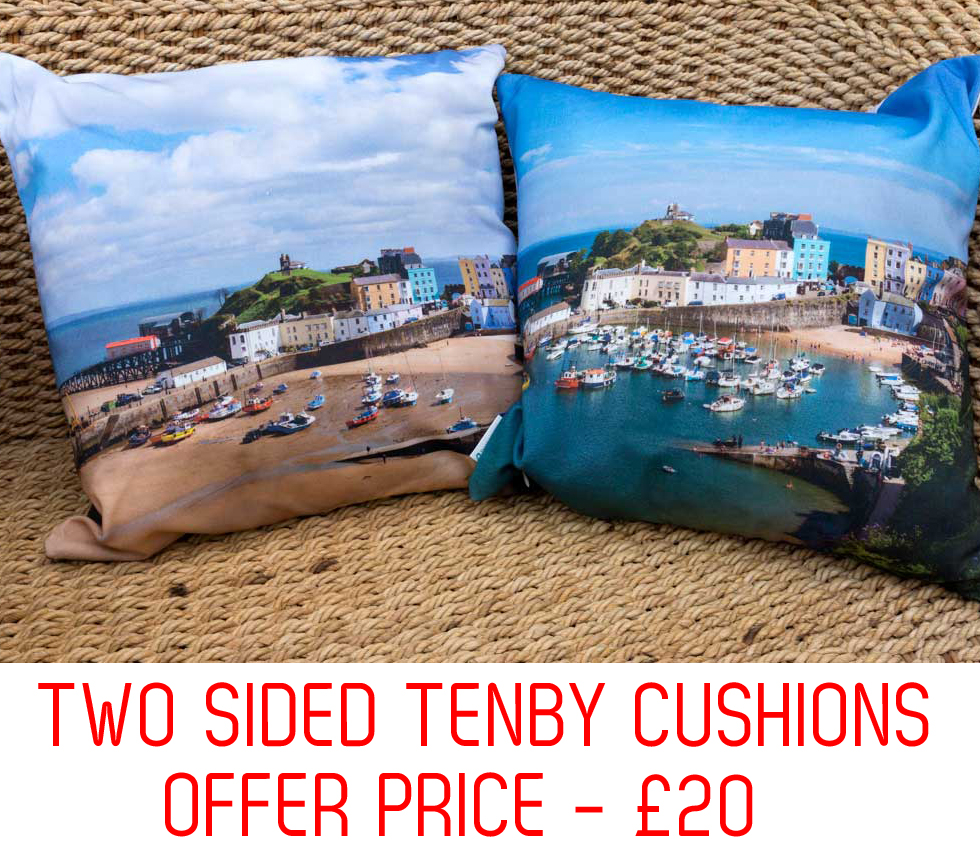 double sided Tenby cushion on sale for twenty pounds