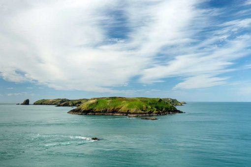 Views across Jack Sound to Skomer Island from the Deer Park, Pembrokeshire