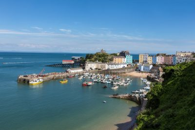 tenby harbour looking picture perfect on a glorious sunny day